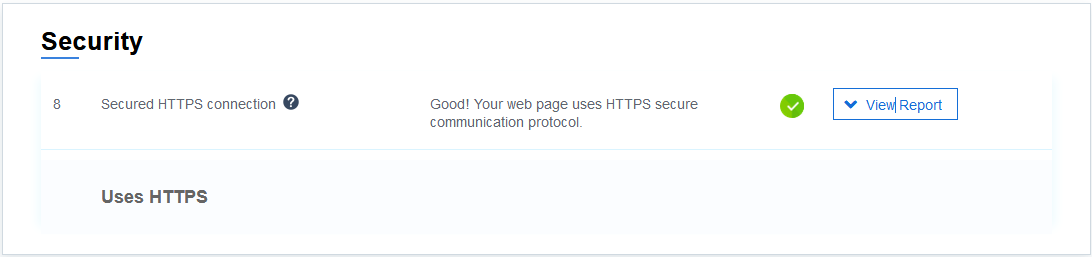 Instant page - Security