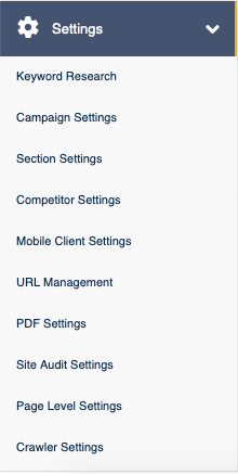 Settings Menu