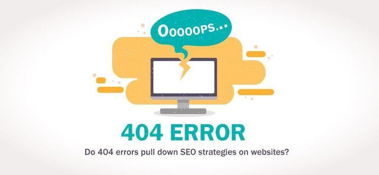 Do 404 errors pull down SEO strategies on websites?
