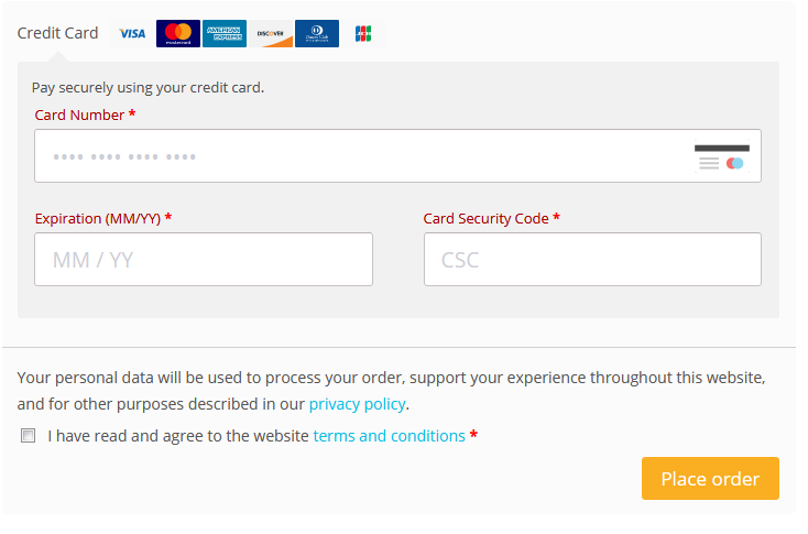 Pay securely through payment gateway