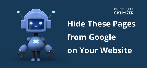 hide these pages from google